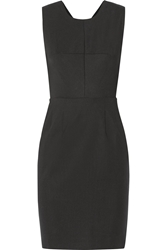 L'agence Snap Back Stretch Cotton Blend Dress Black