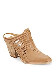 Dolce Vita Heely Leather Mules Camel