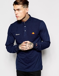 Ellesse Polo Shirt With Long Sleeves Navy