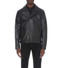The Kooples Zip Up Leather Jacket Black