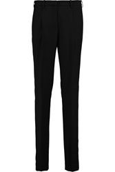 Pringle Wool Paneled Crepe Straight Leg Pants Black