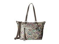 Sakroots Artist Circle City Satchel Slate Brave Beauti Satchel Handbags Multi