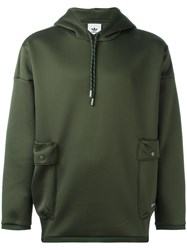 Adidas Originals Drawstring Hoodie Green