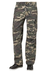 Dickies New York Cargo Trousers Camouflage Mottled Olive