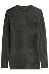 Rag And Bone Ribbed Cashmere Pullover Green