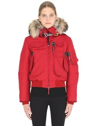 Parajumpers Gobi Down Bomber Jacket W Fur