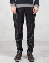 Vallis By Factotum Knee Patch Slim Leather Pants