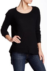 Sweet Romeo Solid Thermal Pullover Black