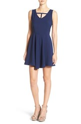 Cream And Sugar Women's Strappy Skater Dress Navy