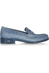 Bruno Magli Glitter Finished Leather Loafers
