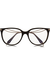 Victoria Beckham Kitten Cat Eye Acetate And Gold Tone Optical Glasses