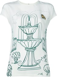 Dolce And Gabbana Victorian Garden Print Top White
