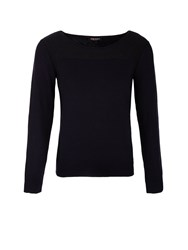 Morgan Wool Mixed And Lurex Jumper Blue