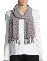 Cejon Beaded Tassel Wrap Scarf Grey