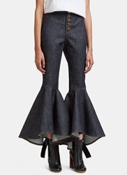 Ellery Hysteria Cropped Flare Jeans Blue