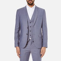 Hugo Men's Slim Fit Alin Wyns Hetlin 3 Piece Suit Pale Blue