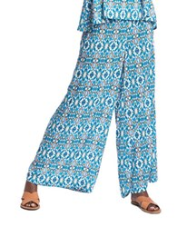 Plenty By Tracy Reese Printed Wide Leg Pants Blue