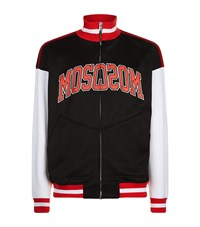Moschino Logo Zip Jacket Male Black