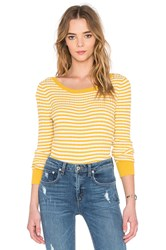 Shae 90'S Rib Pullover Sweater Yellow