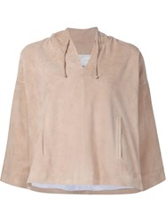 Jeffrey Dodd Bell Sleeve Shift Blouse Nude And Neutrals