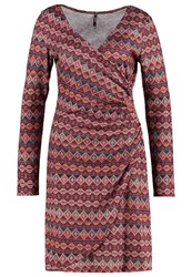 Smash Avelina Jersey Dress Wine Bordeaux