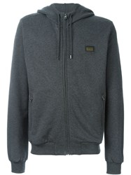 Dolce And Gabbana Zip Hoodie Grey