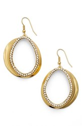 Women's Karine Sultan Crystal Front Hoop Earrings