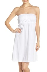 Hard Tail Women's Strapless Cover Up Dress White
