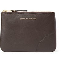Comme Des Garcons Leather Coin Wallet Chocolate