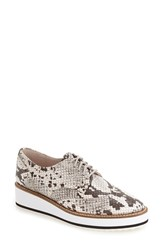 Shellys Women's London 'Emma' Platform Oxford Snake Print