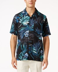 Tasso Elba Men's Retreat Tropical Print Shirt Only At Macy's White Combo