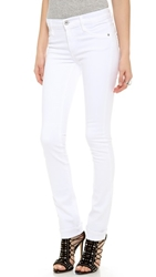 James Jeans High Rise Straight Leg Jeans Frost White