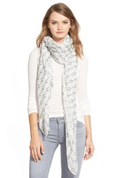 The Kooples Handcuff Print Scarf White Black