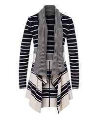 Olsen Waterfall Cardigan Navy