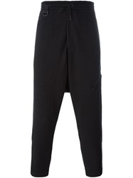 Y 3 Drop Crotch Track Pants Black