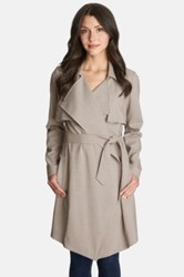 1.State Tattersall Check Trench Coat White