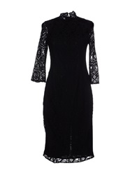 Pf Paola Frani Knee Length Dresses Black