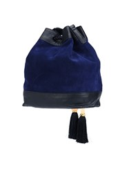 Lizzie Fortunato Jewels Drawstring Bucket Cross Body Bag Blue