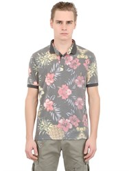 Bob Strollers Floral And Pineapple Cotton Jersey Polo