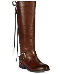 Wanted Lounge Lace Up Riding Boots Women's Shoes Brown