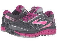 Brooks Ghost 9 Gtx Anthracite Festival Fuchsia Silver Women's Running Shoes Gray