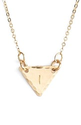 Women's Nashelle 14K Gold Fill Initial Triangle Necklace 14K Gold Fill I