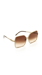 Wildfox Couture Fontaine Sunglasses Antique Gold Brown