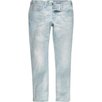 River Island Mens Light Blue Wash Dylan Slim Fit Jeans