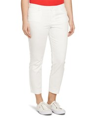Lauren Ralph Lauren Plus Cotton Sateen Skinny Pants White