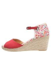 Pare Gabia Tabasco Wedge Sandals Rouge Red