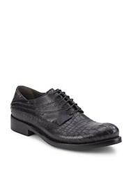 Jo Ghost Leather Lace Up Oxford Shoes Washed Blue