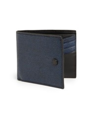 Kenzo Two Toned Leather Wallet Black Grey
