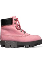 Acne Studios Teide Nubuck Ankle Boots Pink