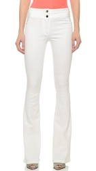 Veronica Beard Stretch Denim Flare Leg Jeans White